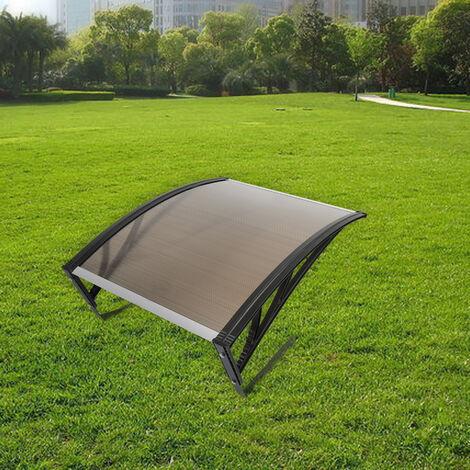Robot de césped Garaje Cochera Techo Protección solar Robot de corte Cortacésped 100x78x50cm | Color: marrón
