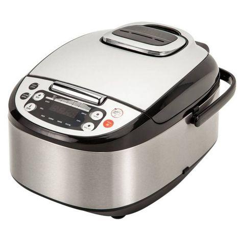 Robot de Cocina Multifunción con Voz, Programable 24h. 5 Litros (10 Comensales). 4 Menús y 8 Programas Automáticos