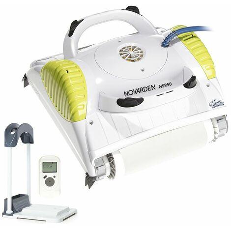 Robot de piscine électrique NOVARDEN NSR50 Dolphin TC+ mousse avec télécommande et support de rangement by Maytronics