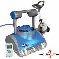 robot electrique de piscine fond, parois et ligne d'eau avec télécommande et chariot - master m5 - dolphin