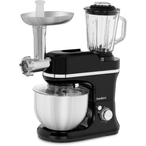 Robot Mixeur Mixer Blender Smoothie Glace Fonction Pulse Avec Hachoir 1,5L 1200W