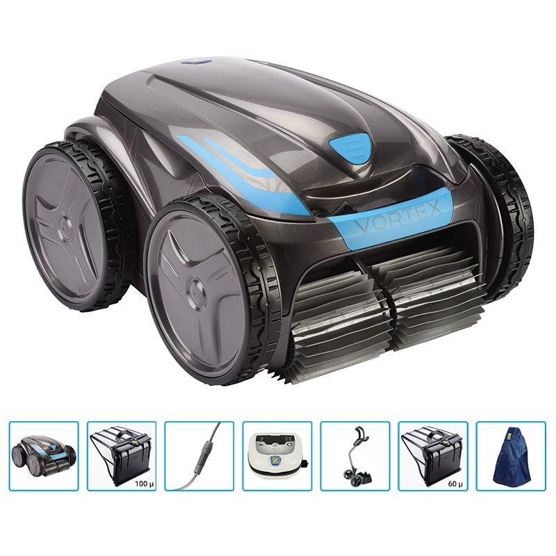 Robot Piscina Zodiac Ov 5300 Sw Vortex Pro 4wd Con Filtro Da 60 Micron E Copertura Protettiva