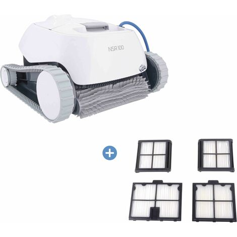 Robot piscine NOVARDEN NSR100 Dolphin + Cartouches de filtration 50 microns - White