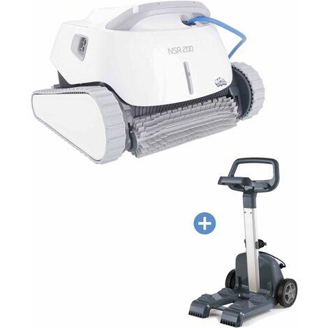 Robot piscine NOVARDEN NSR200 Dolphin + Chariot - White
