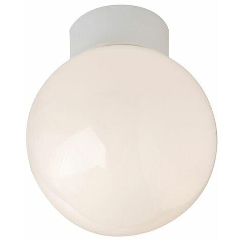Robus Globe 100W bathroom ceiling light, IP44, 100mm, White