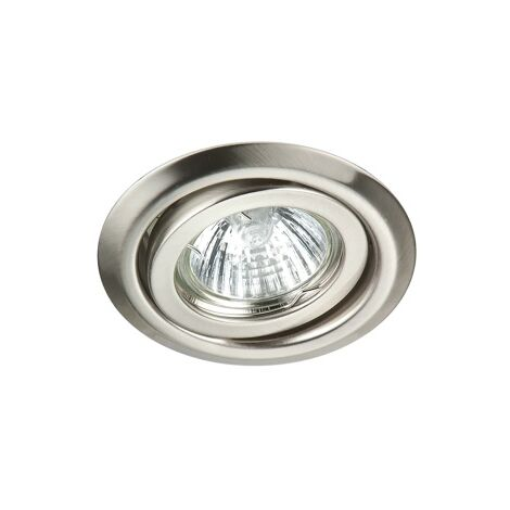 Robus RIDA 50W IP20 GU10 Pressed Steel Directional Downlight Brushed Chrome - R208PS-13