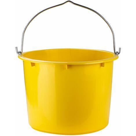 Robuster Kunststoff Baueimer gelb kranbar 20L Ausgusseimer PVC Eimer bis 41kg