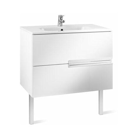 Roca-8414329937497 Roca - Unik (mueble base y lavabo) - 80 cm, Serie Victoria-N , Color Blanco brillo