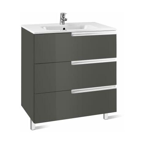 Roca-8433291106984 Roca - Unik Family (mueble base y lavabo) - 90 cm, Serie Victoria-N , Color Gris antracita
