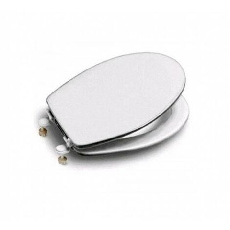 Roca asiento y tapa blanca de inodoro modelo MAGNUM universal bisagras acetálicas A801906004