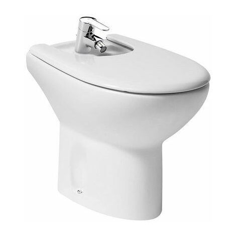 Roca Back To Wall Bidet Cover Included Contemporary Gloss Bathroom Cloakroom