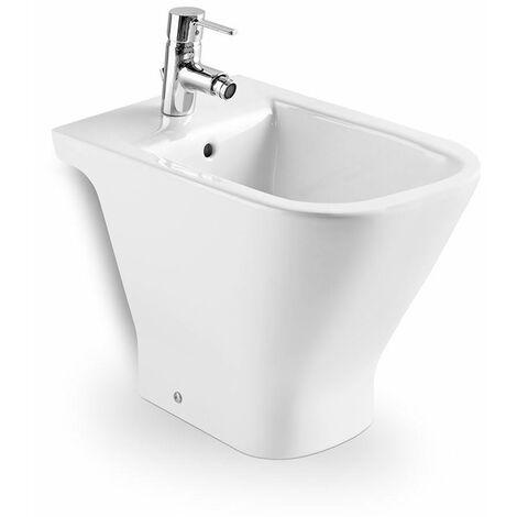 Roca Back To Wall Floor Mounted Bidet Contemporary Gloss Bathroom Cloakroom