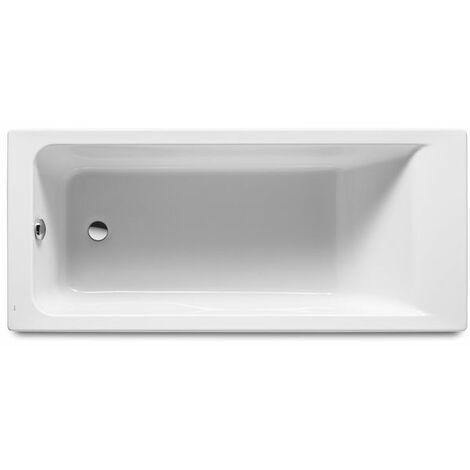 ROCA Bañera acrílica rectangular 1600x750- Serie Easy, Color Blanco