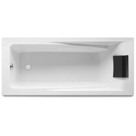 8414329801705 Roca - Bañera acrílica rectangular 1700x750 - Serie Hall , Color Blanco