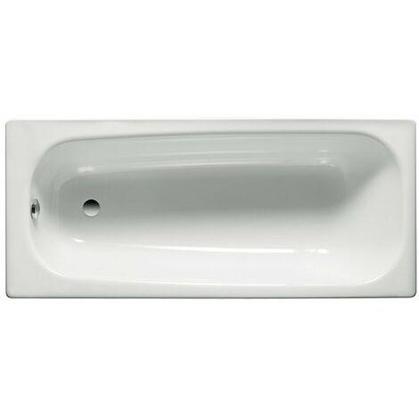 Roca - Bañera de acero rectangular (120 x 70 x 41,5 cm) - Serie Contesa - Color Blanco o Pergamon