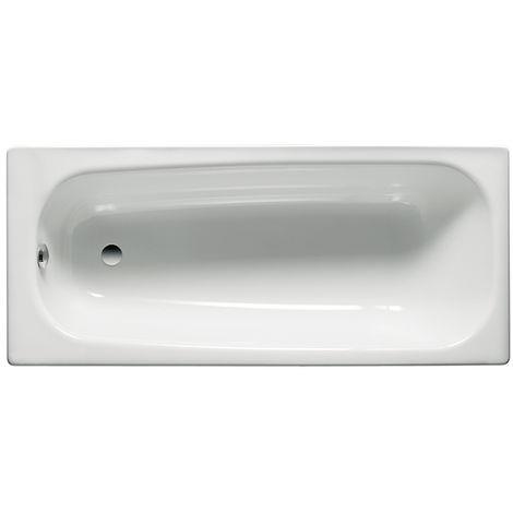 Roca - Bañera de acero rectangular (140 x 70 x 40 cm) - Serie Contesa - Color Blanco o Pergamon