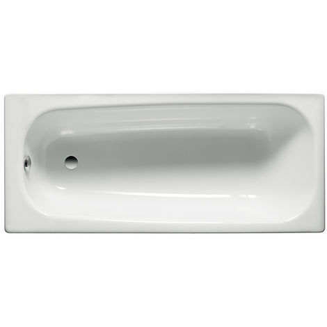 Roca - Bañera de acero rectangular (150 x 70 x 40 cm) - Serie Contesa - Color Blanco o Pergamon