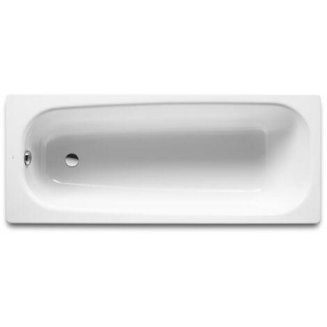 8414329234138 Roca - Bañera de fundición rectangular - Serie Continental , Color Blanco