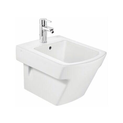 ROCA Bidé de porcelana compacto suspendido - Serie Hall , Color Blanco