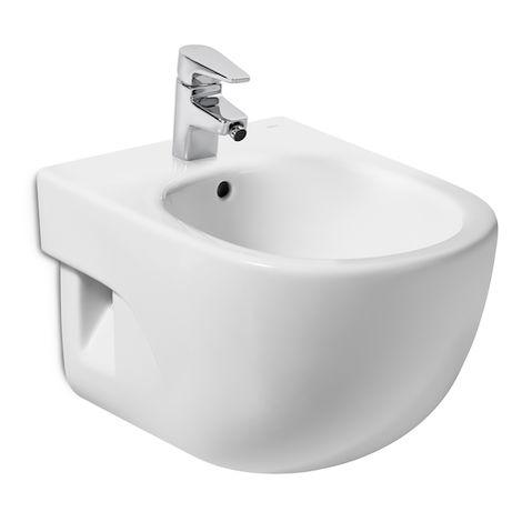 Bidé de porcelana compacto suspendido - Serie Meridian , Color Blanco - Roca
