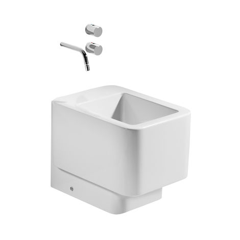 8414329551976 Roca - Bidé de porcelana - Serie Element , Color Blanco