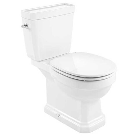 Roca Carmen Rimless Close Coupled Toilet with Dual Flush Cistern - Soft Close Seat