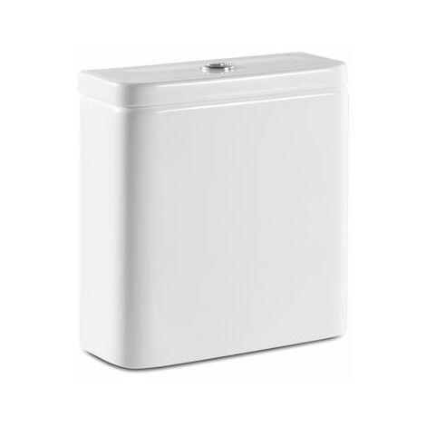 Cisterna de doble descarga 45/3 L con alimentación inferior para inodoro - Serie The Gap , Color Blanco - Roca