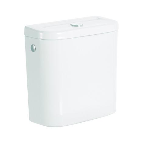 ROCA Cisterna de doble descarga 6/3L con alimentación lateral para inodoro - Serie Access , Color Blanco