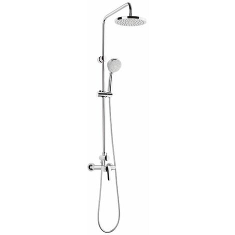 ROCA Columna de ducha monomando ( incluye rociador de 20cm, ducha de mano y flexible met de 1,5m) - Serie Victoria