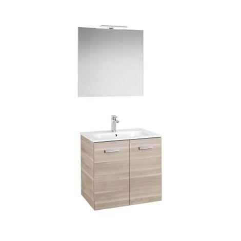 Roca - Conjunto mueble y puertas lavabo. Serie Victoria Basic, 80 cm, Color abedul. - A855899422