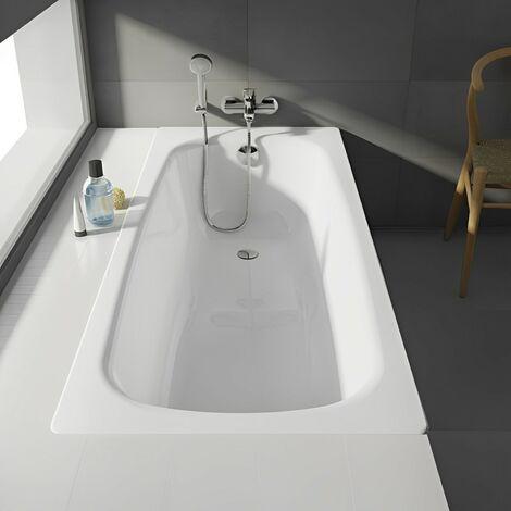 Roca Contesa Anti-Slip Single Ended Steel Bath - 1700mm x 700mm - 2 Tap Hole