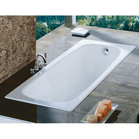 Roca Contesa Single Ended Bath - 1700mm x 700mm - 0 Tap Hole