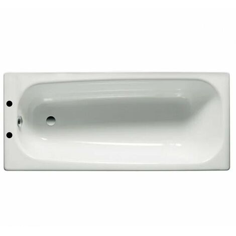 Roca Contesa Single Ended Steel Bath - 1600mm x 700mm - 2 Tap Hole