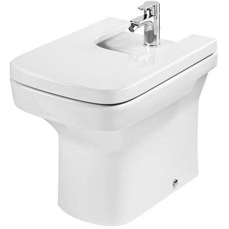 Roca Dama-N Compact Back to Wall Bidet, 520mm Projection, 1 Tap Hole