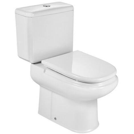 ROCA DAMA RETRO -Inodoro completo con salida vertical (incluye taza, cisterna de alimentación inferior y tapa)