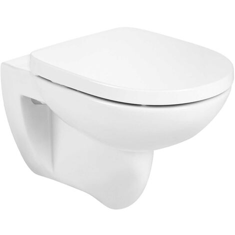 Roca Debba Round Rimless Wall Hung WC Pan 540mm Projection - White