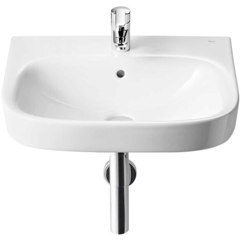 Roca Debba Wall Hung Basin 550mm Wide - 1 Tap Hole
