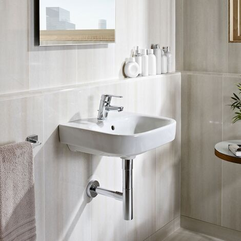 Roca Debba Wall Hung Basin, 650mm Wide, 1 Tap Hole