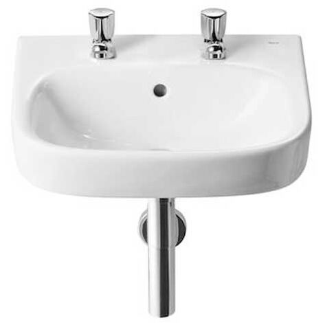 Roca Debba Wall Hung Cloakroom Basin 450mm W - 2 Tap Hole