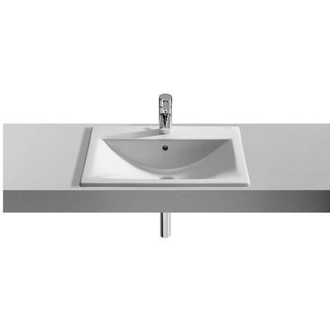 Roca Diverta Inset Countertop Basin 550mm W - 1 Tap Hole