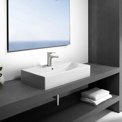 Roca Diverta Wall Hung Cloakroom Basin 750mm W - 1 Tap Hole
