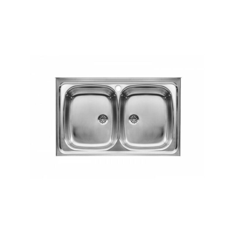 E-90 Evier Inox 2 Bacs 90X50Cm - A870420903 - Roca