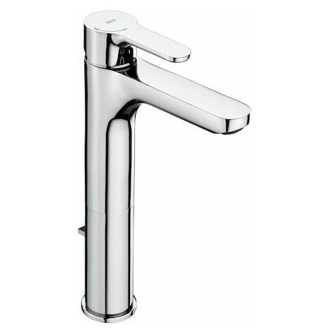 ROCA Grifo de lavabo L20 caño alto con desagüe automático