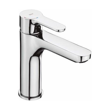ROCA Grifo de lavabo L20 caño mezzo con cuerpo liso, manecilla XL