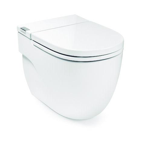 ROCA IN-TANK - Inodoro de pie con tanque integrado. Incluye tapa y asiento. Necesita toma de red. - Serie Meridian , Color Blanco