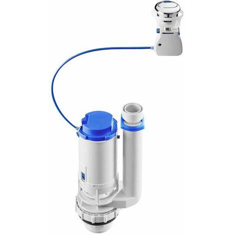 ROCA Juego completo de doble descarga accionada por cable con pulsador y alimentación lateral (A3l_m) con rosca metálica. - A822504100