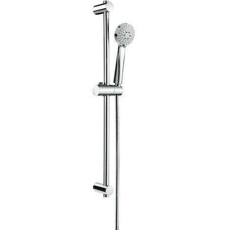 ROCA Kit de ducha con ducha teléfono Stella 80/3 barra de 700 mm con soporte regulable para la ducha teléfono y flexible - Serie Stella