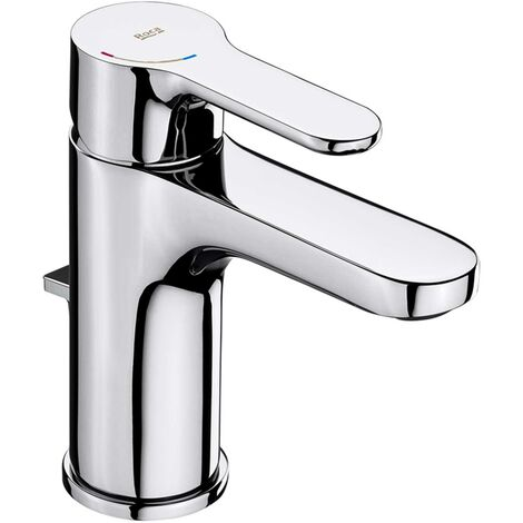 Roca L20 Basin Mixer Tap with Pop Up Waste - Chrome