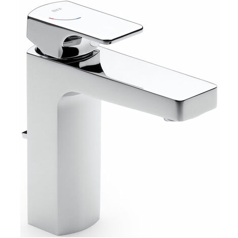 Roca L90 Basin Mixer Tap with Pop Up Waste Single Lever Handle - Chrome