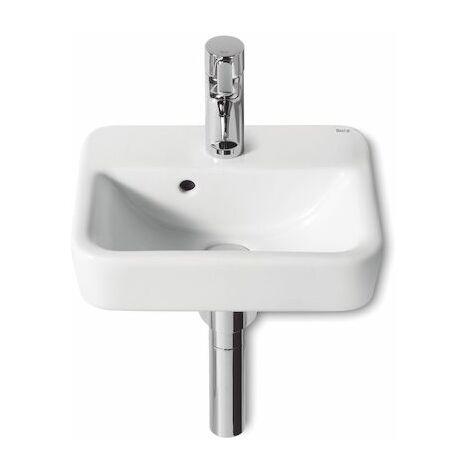 ROCA Lavabo de porcelana compacto suspendido o de sobremueble - Serie Senso Square , Color Blanco